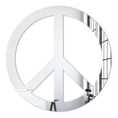 Wandspiegel Spiegel Peace inkl. 8 Klebepads
