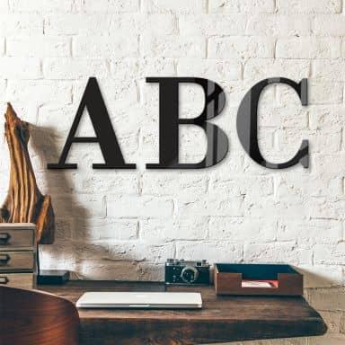 Lettres décoratives verre acrylique - Police de caractères Bodoni