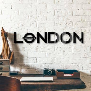 Scritta in acrilico London - Underground