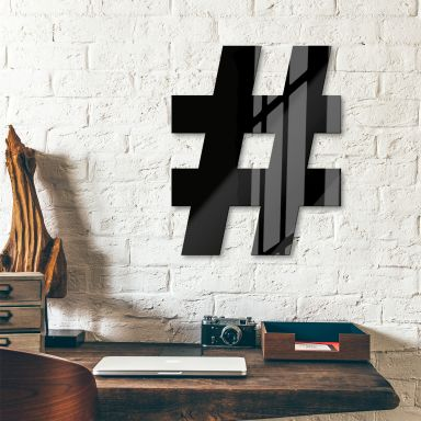 Lettre décorative en verre acrylique - Hashtag