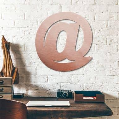 Lettres décoratives en alu-Dibond - effet cuivré - Arobase
