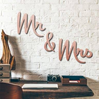 Scritta Alu-Dibond ramato – Mr & Mrs