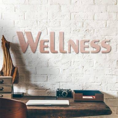 Alu-Dibond Buchstaben - Kupfereffekt - Wellness
