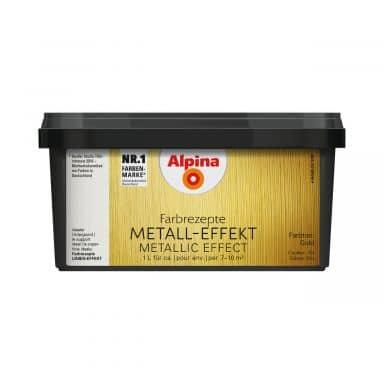 Alpina Farbrezepte METALL-EFFEKT Gold - 1 Liter