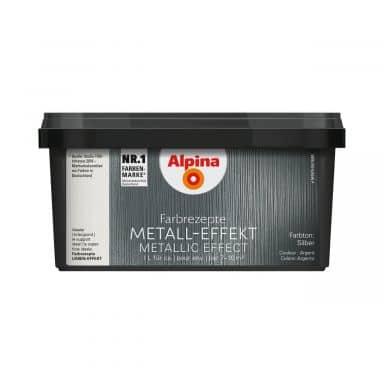Alpina Farbrezepte METALL-EFFEKT Silber - 1 Liter