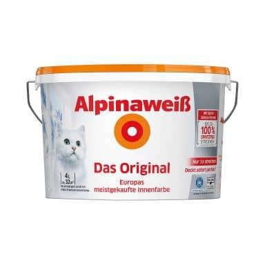 Alpinaweiß Das Original Wandfarbe - 4 Liter