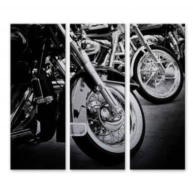 Aluminium Dibond Motorcycle Wheels (3-delig)