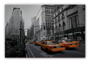 Alu-Dibond Bild Cabs in Manhattan