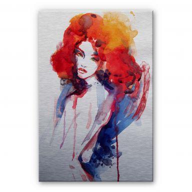 Alu-Dibond Bild Die Frau mit dem feuerroten Haar