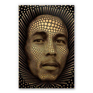 Alu-Dibond Goudeffect - Heine - Bob Marley