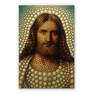 Alu-Dibond Goudeffect - Heine - Jezus