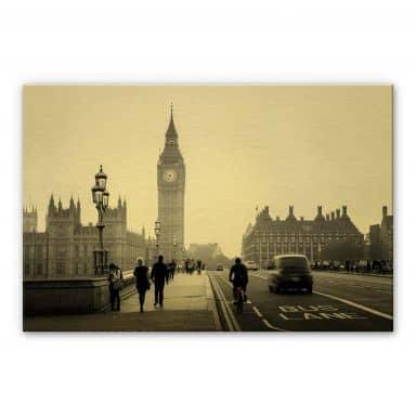 Alu-Dibond mit Goldeffekt Big Ben in London
