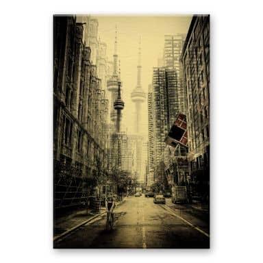 Alu-Dibond mit Goldeffekt Chiriaco - Straßen in Toronto