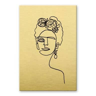 Alu-dibond gold effect - Hariri - Frida Kahlo
