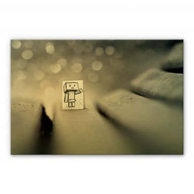 Alu-Dibond mit Goldeffekt Heine - Sei mein Freund