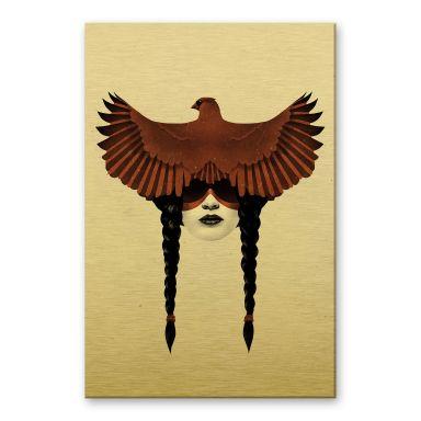 Alu-Dibond mit Goldeffekt Ireland - Dark Cardinal