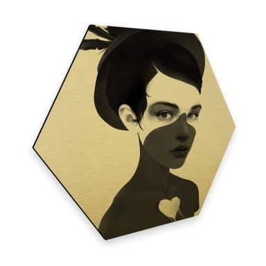 Hexagon - Alu-Dibond-Goldeffekt - Ireland - Fool