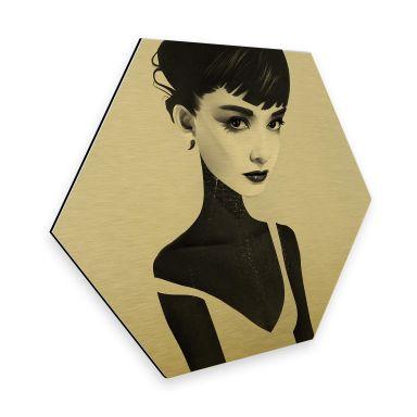 Hexagon - Alu-Dibond-Goldeffekt - Ireland - Oh Audrey