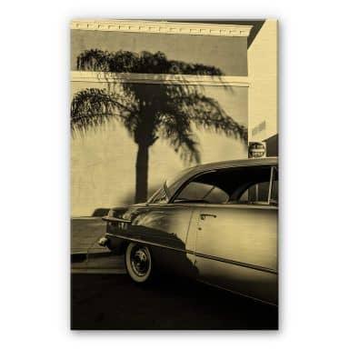 Alu-Dibond mit Goldeffekt Ochlich - Oldtimer in Palm Springs