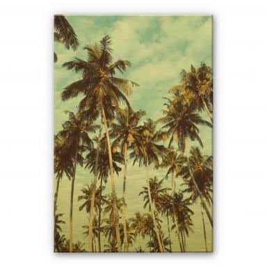 Alu-Dibond gold effect - Palm Trees 08