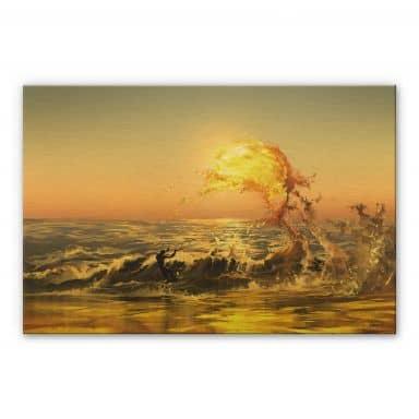 Alu-Dibond mit Goldeffekt aerroscape - Feuer Surfer