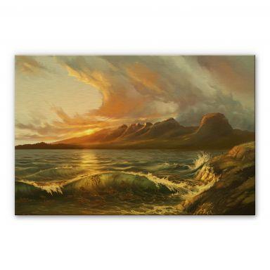 Alu-Dibond mit Goldeffekt  aerroscape - England: Seven Sisters