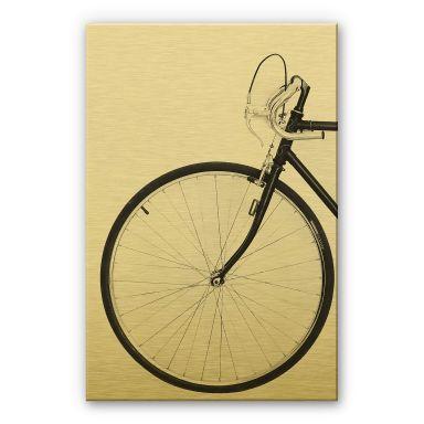 Alu-Dibond mit Goldeffekt Sisi & Seb - Das Fahrrad