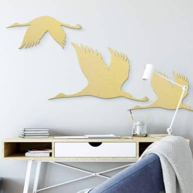 Aluminium gold effect - Crane Birds