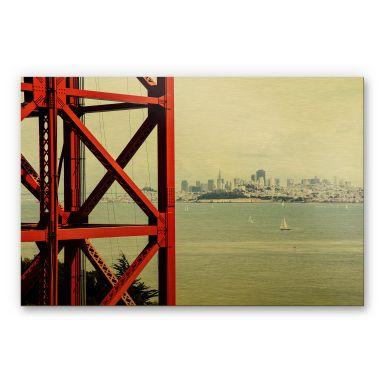 Alu-Dibond-Goldeffekt - Vor den Toren von San Francisco