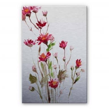 Alu-Dibond Bild Illustrierte Wildblume
