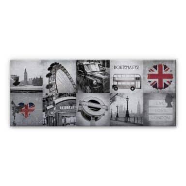 Alu-Dibond Bild Impressions of London - Panorama