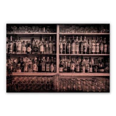 Alu-Dibond-Kupfereffekt - Klein - The Classic Bar