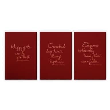 Alu-Dibond Copper Audrey Hepburn Quotes