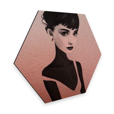 Hexagon - Alu-Dibond-Kupfereffekt - Ireland - Oh Audrey