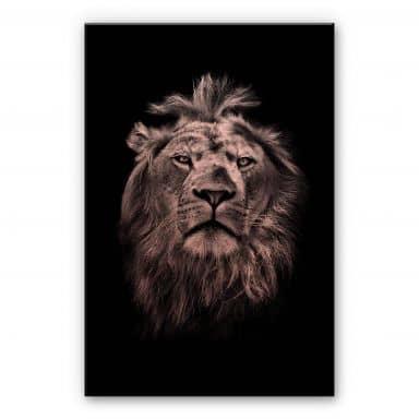 Alu-Dibond mit Kupfereffekt Lion
