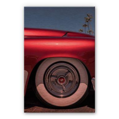 Alu-Dibond mit Kupfereffekt Ochlich - Red Oldtimer