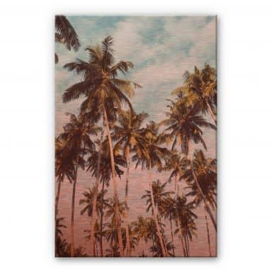 Alu-Dibond copper effect - Palm Trees 08