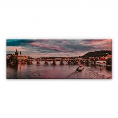 Alu-Dibond copper effect - Sunset in Prague