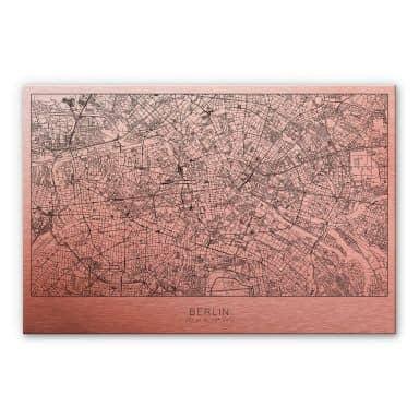 Alu-Dibond mit Kupfereffekt Stadtplan Berlin