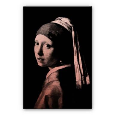 Alu-Dibond copper – Vermeer – the girl with the pe
