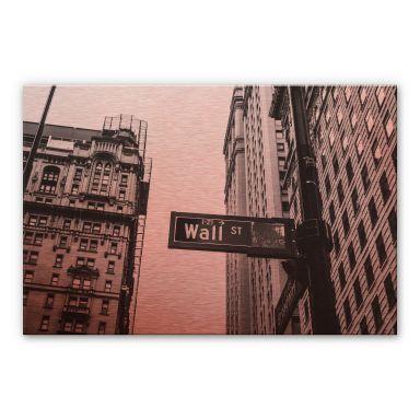 Alu-Dibond Bild Kupfereffekt - Wall Street 02