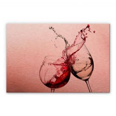 Alu-dibond copper - Wine Glasses