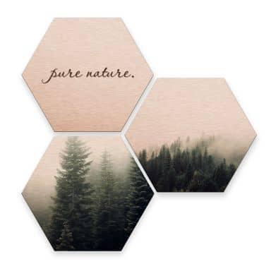 Hexagon alu-dibond koper effect - Pure Nature