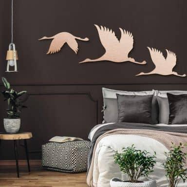 Aluminium copper effect - Crane Birds