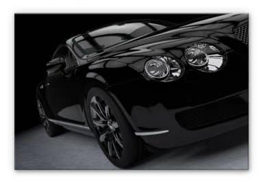 Alu-Dibond Bild Metallic Car Black 02