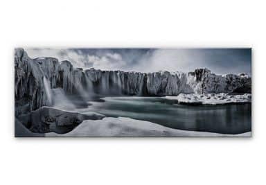Alu-Dibond Bild Shcherbina - Islands Wasserfälle