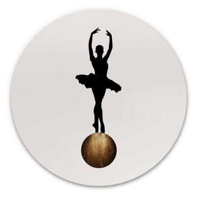 Alu-Dibond Kubistika - Prima Ballerina - Rund