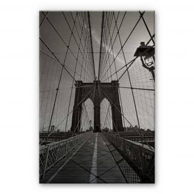 Brooklyn Bridge Perspektive Aluminium print