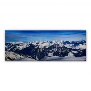 Alpine Panorama Aluminium Print