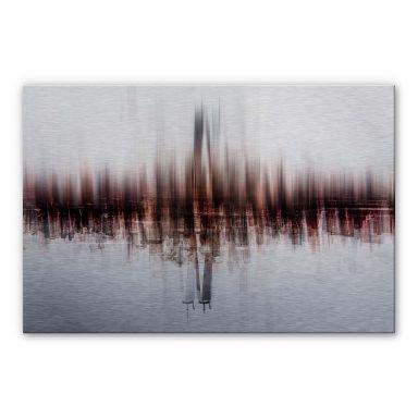 Alu-Dibond-Silbereffekt Chiriaco - My Vision